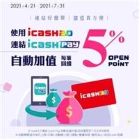 2021/4/21-7/31,【icash2.0連結icash Pay 自動加值享回饋】