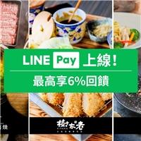 使用LINEPay行動支付結帳,每筆消費享LINE POINT點數6%回饋