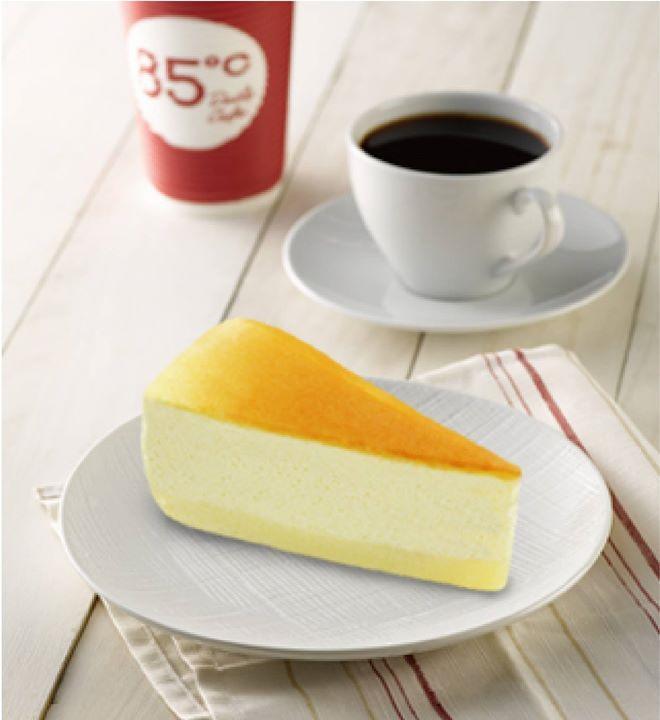 85度c,美式起士蛋糕,口感細緻綿密,入口即化
