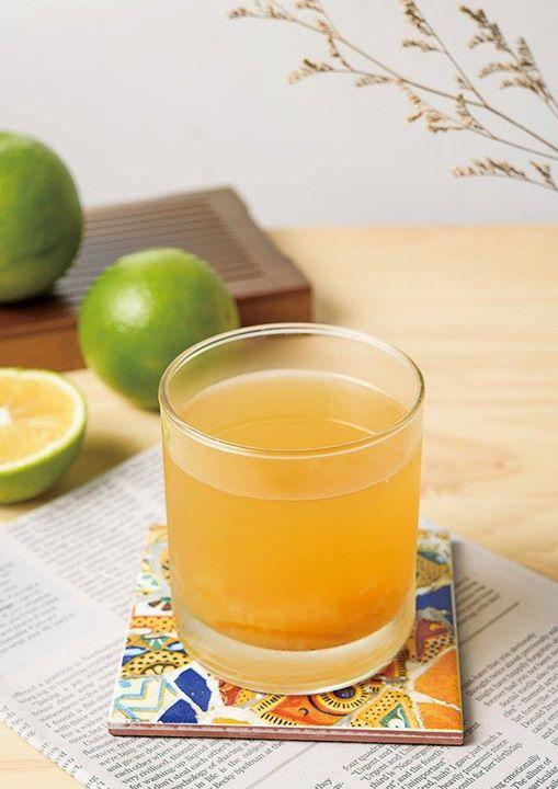 找道茶,新品登場,程又青 ,採用鮮榨柳橙加香柚加招牌青茶調配