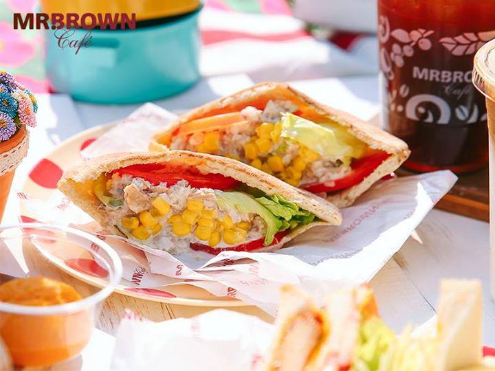 伯朗咖啡,美味早餐新星,▶鮪魚玉米沙拉口袋餅