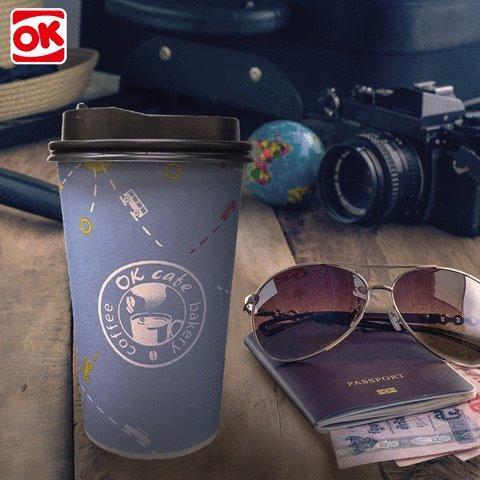 OK便利商店,嚴選UCC深度烘培咖啡豆,現磨大杯咖啡,第二杯半價