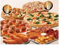 達美樂歡聚超值餐1899元,大披薩帕瑪滋心小披薩加四喜拼盤加雞腿