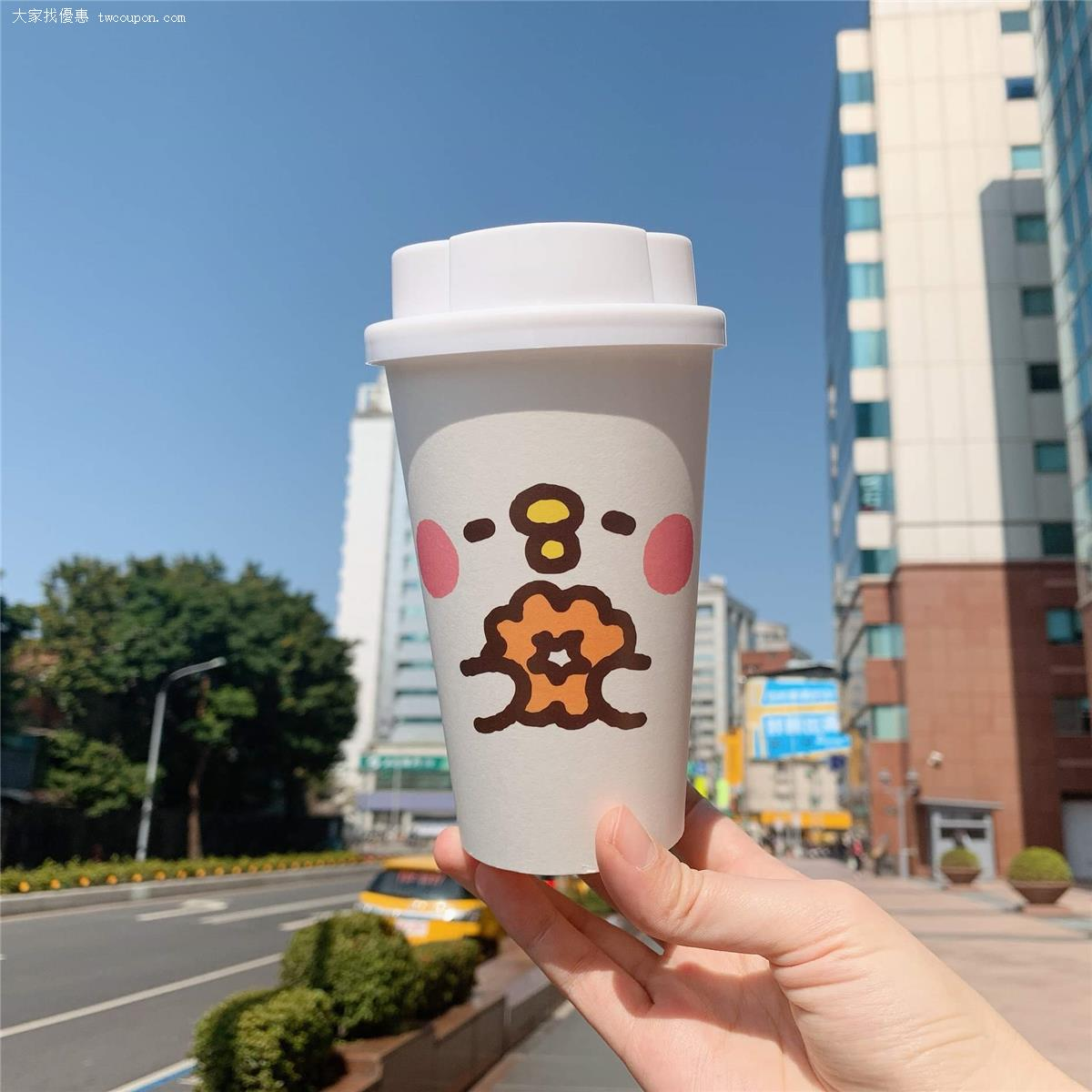 只要【外帶】16OZ 現做飲品就有超可愛P助造型紙杯,造型杯蓋