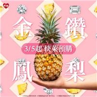 『台農17號🍍金鑽鳳梨』3/5起~等萊粉預購