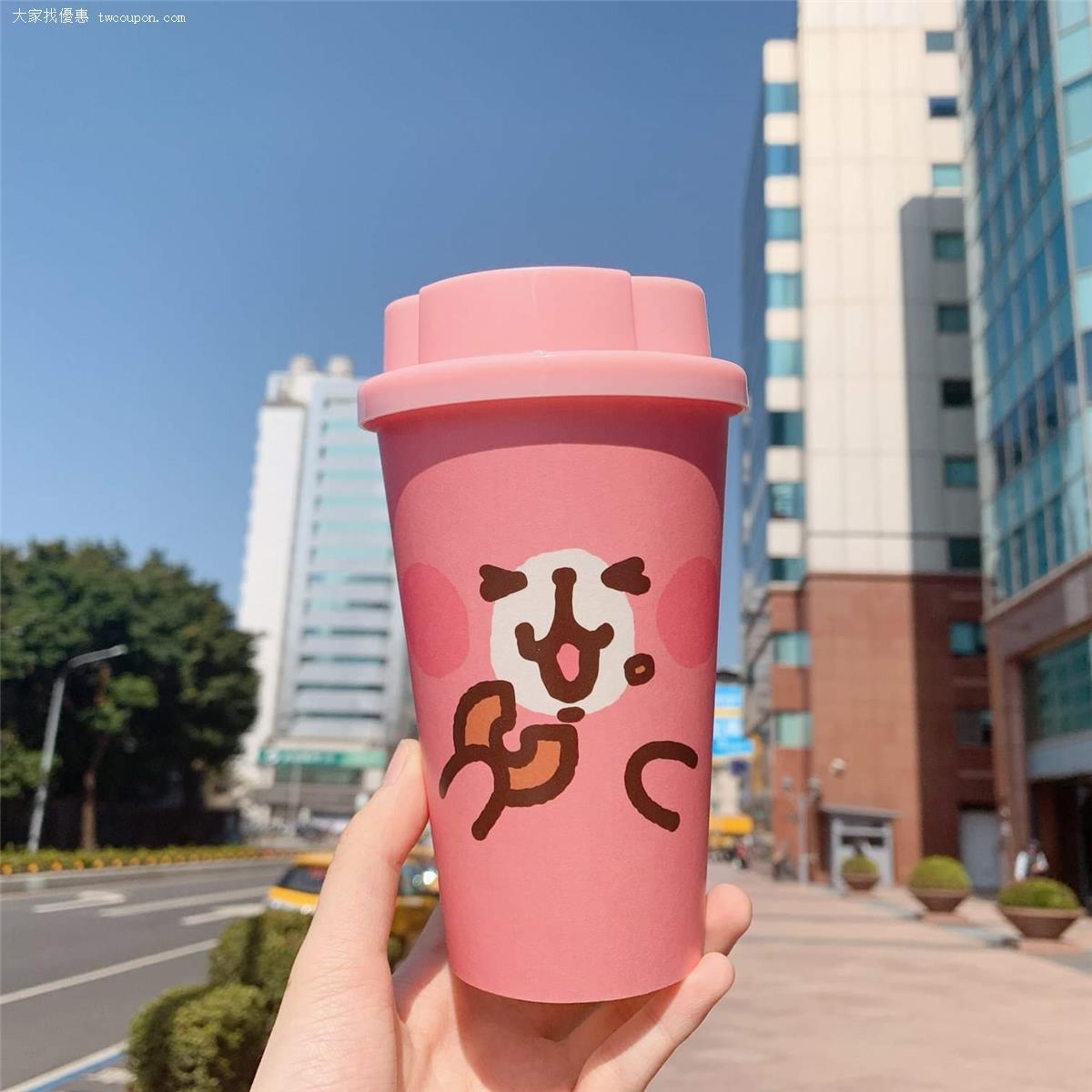 只要【外帶】16OZ 現做飲品,就有超Q萌粉紅兔兔造型紙杯