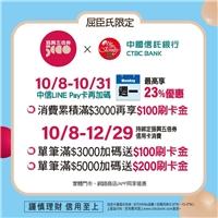 持綁定振興五倍券中國信託信用卡來屈臣氏消費週一最高享23%優惠