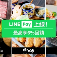 使用LINE  Pay行動支付結帳,每筆消費享LINE POINT點數6%回饋